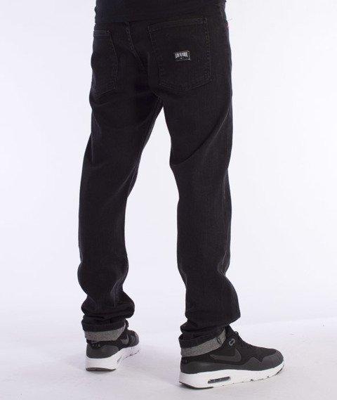 Unhuman-Klasyk Slim Spodnie Jeans Black