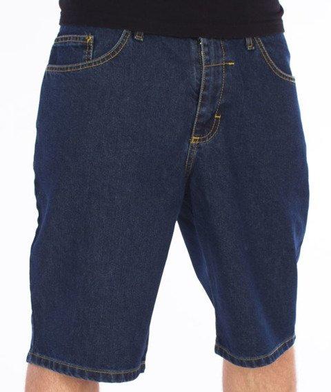 Unhuman-Spodnie Krótkie Jeans Dark Blue