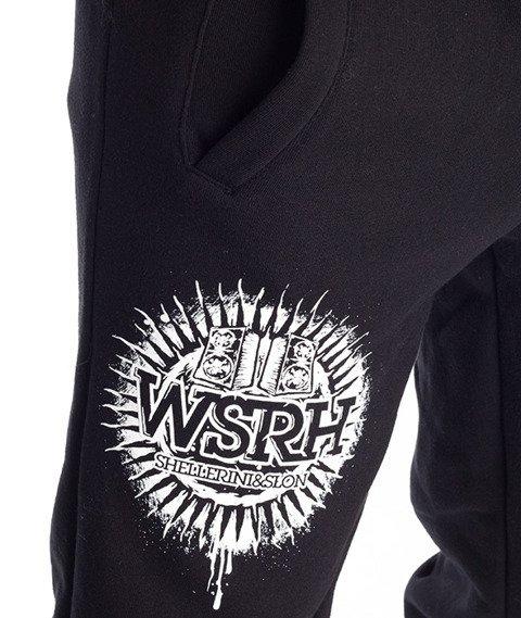 WSRH-Słońce Spodnie Dresowe Czarne