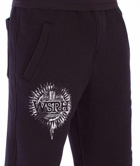 WSRH-Słońce Spodnie Dresowe Czarne/Srebrne