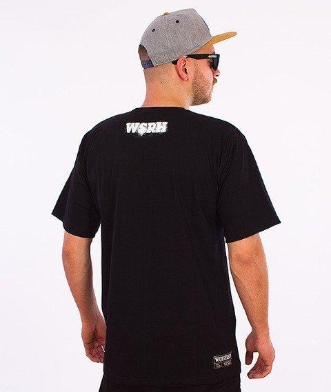 WSRH-Słońce Spray T-Shirt Czarny/Czerwony