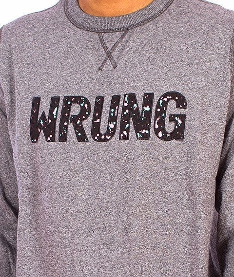 Wrung-Logotype Paint Bluza Szara
