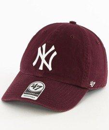 47 Brand-Clean Up New York Yankees Czapka z Daszkiem Bordowa