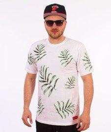 Alkopoligamia-Loveyourlife Palm T-Shirt Biały