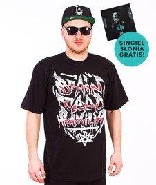 Brain Dead Familia-Napis T-shirt Czarny