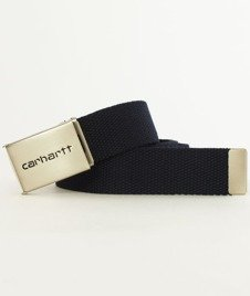 Carhartt-Clip Belt Chrome Dark Navy