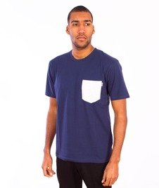 Carhartt-Contrast Pocket T-Shirt Blue/Ash Heather