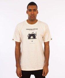 Crooks & Castles-You Mad T-Shirt Kremowy