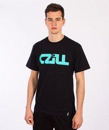 Czill-Klasyk T-shirt Czarny/Miętowy