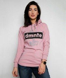 Diamante-DMNTE Bluza Damska Kaptur Różowa