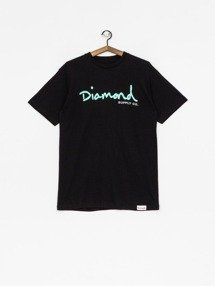 Diamond OG SCRIPT T-Shirt Czarny