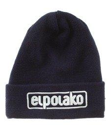 El Polako-Classic Czapka Zimowa Wywijana Granatowa