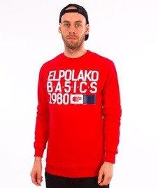 El Polako-EP Basic Crewneck Bluza Czerwony