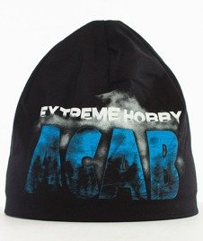 Extreme Hobby-Fuck The Police Cap Czapka Zimowa Czarna/Niebieska