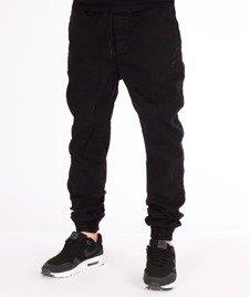 Grube Lolo-Spodnie Jeansowe Czarne z Dziurami