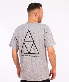 HUF-Triple Triangle T-Shirt Szary
