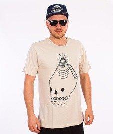 KR3W-Skullyd T-Shirt Beżowy