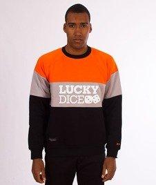 Lucky Dice-3 Panels Crewneck Bluza Pomarańczowa