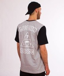 Lucky Dice-Triangle T-shirt Szary