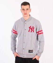 Majestic-New York Yankees Roper Fleece Letterman Grey