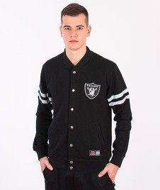 Majestic-Oakland Raiders Roper Fleece Letterman Black