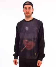 Mass-Chill Girl Crewneck Bluza Czarna/Multikolor