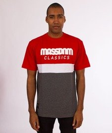 Mass-Respect T-Shirt Red/Dark Grey