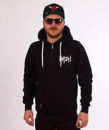 Mass-Signature Half Zip Hoody Bluza Kaptur Black
