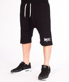 Mass-Signature (Low Crotch) Spodnie Dresowe Krótkie Black