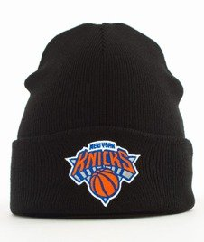 Mitchell & Ness-New York Knicks Team Logo Cuff Knit Czapka Zimowa Czarna