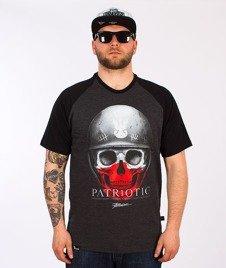 Patriotic-Skull New T-Shirt Czarny/Grafitowy