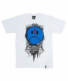 Pihszou-Brutalna Leksyka T-shirt Biały/Niebieski