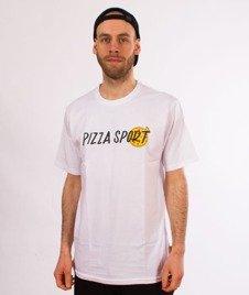 Pizza Sport-T-Shirt Biały