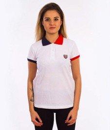 Prosto-Off T-shirt Damski Biały