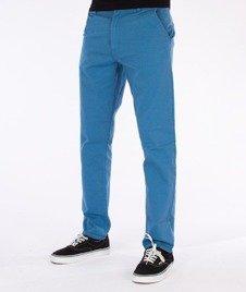 SmokeStory-Chino Slim Spodnie Z Wywinięciem Błękitne