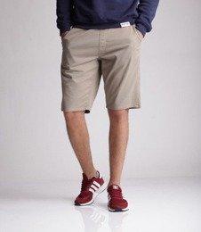 SmokeStory-Classic Krótkie Spodnie Chino Guma Tkaninowe Beżowe