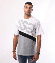 SmokeStory-Dots Triple T-Shirt Biały Szary