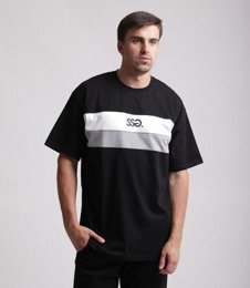 SmokeStory-Double Lines T-Shirt Czarny