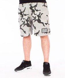 SmokeStory-Flag Moro Lines Premium Krótkie Spodnie Dresowe Białe Moro