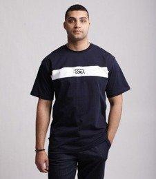 SmokeStory-Front Belt T-Shirt Granatowy