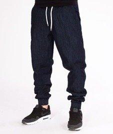 SmokeStory-Jogger Slim Jeans Classic Guma Spodnie Dark Blue