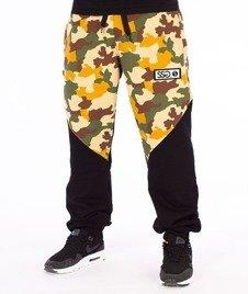 SmokeStory-Premium Moro Front Back Spodnie Dresowe Moro Piaskowe