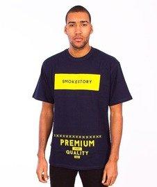 SmokeStory-Rectanagle T-Shirt Granatowy