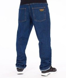 SmokeStory-SSG Tag Slim Jeans Spodnie Medium Blue