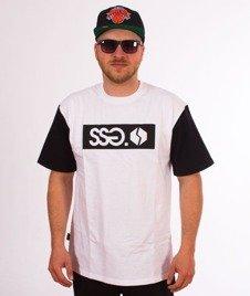 SmokeStory-Sleeve SSG Logo T-Shirt Biały