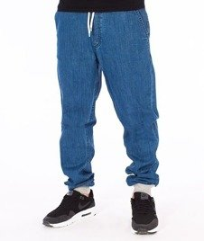 SmokeStory-Szary Dół Jogger Slim Spodnie Light Blue