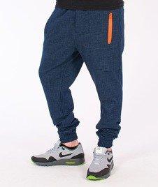 Stoprocent-SMJ Knit Jogger Spodnie Materiałowe Niebieskie
