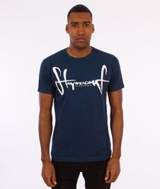Stoprocent-Tag17 Slim T-Shirt Granatowy