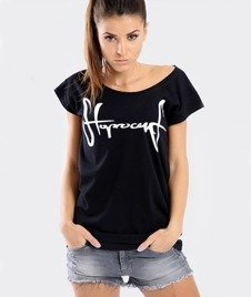 Stoprocent-Tagirl T-Shirt Damski Czarny