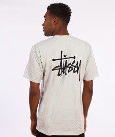 Stussy-Basic T-Shirt Jasny Szary